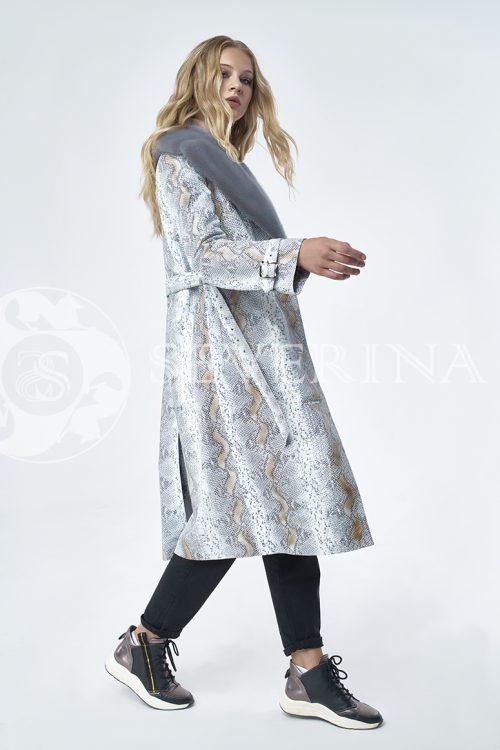 doletskiy 1197 500x750 - пальто из натуральной кожи с отделкой мехом норки