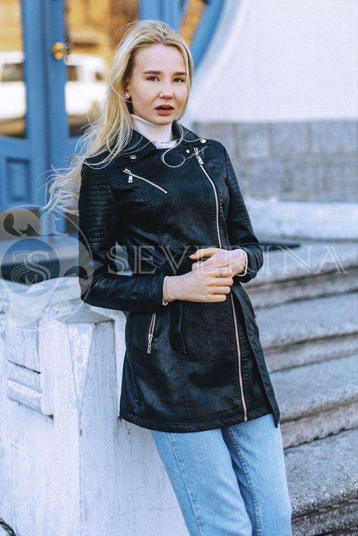 """069 700x1049 - куртка """"косуха"""" из итальянской экокожи"""
