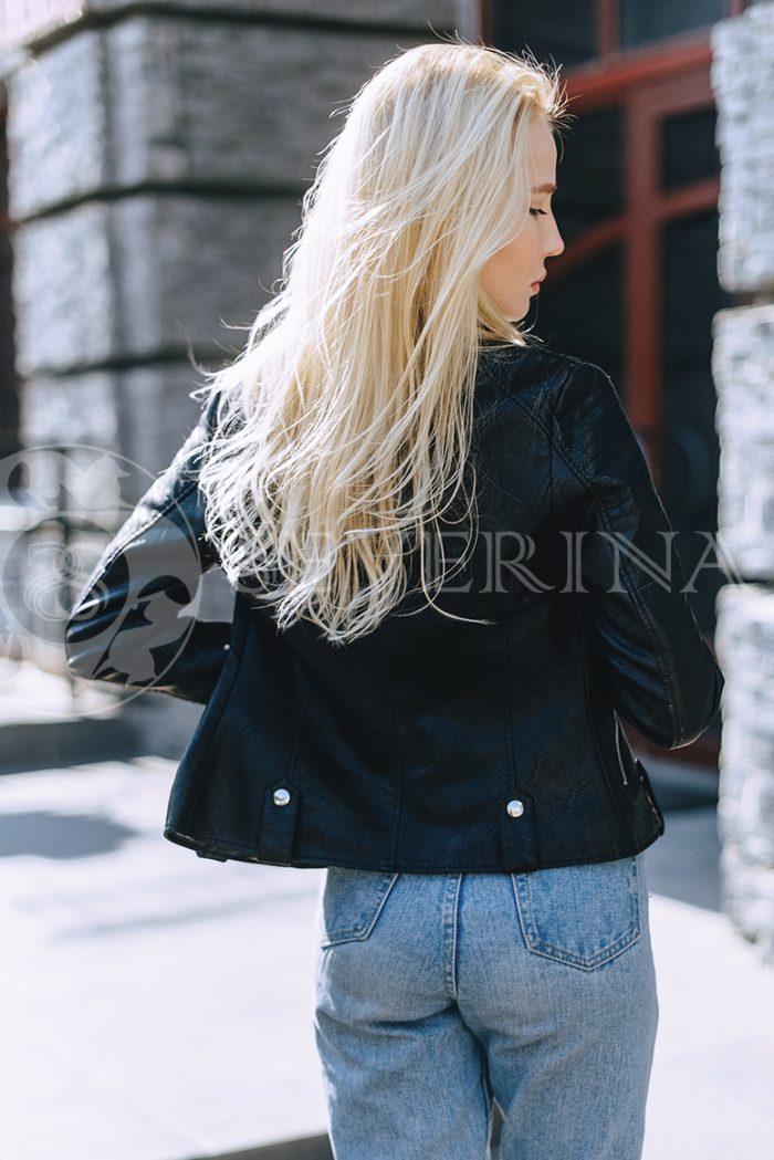"""074 700x1049 - куртка """"косуха"""" из итальянской экокожи"""