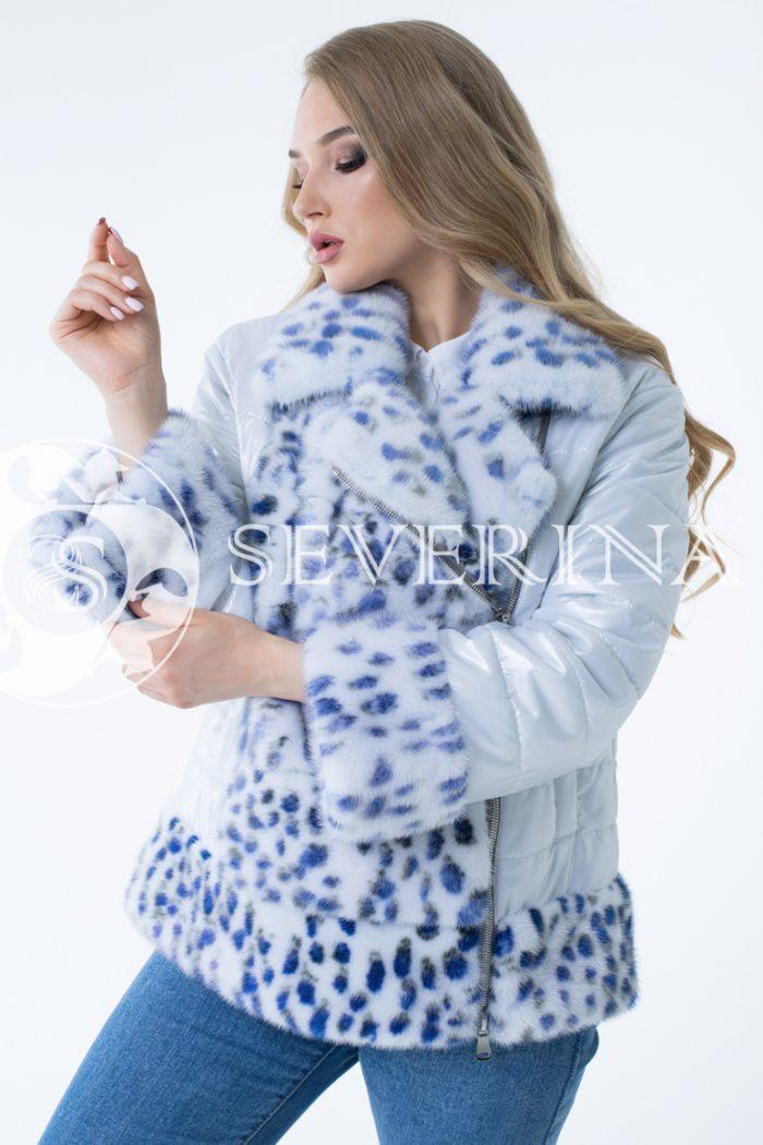 11 700x1050 - куртка с отделкой из меха норки white с анималистичным принтом