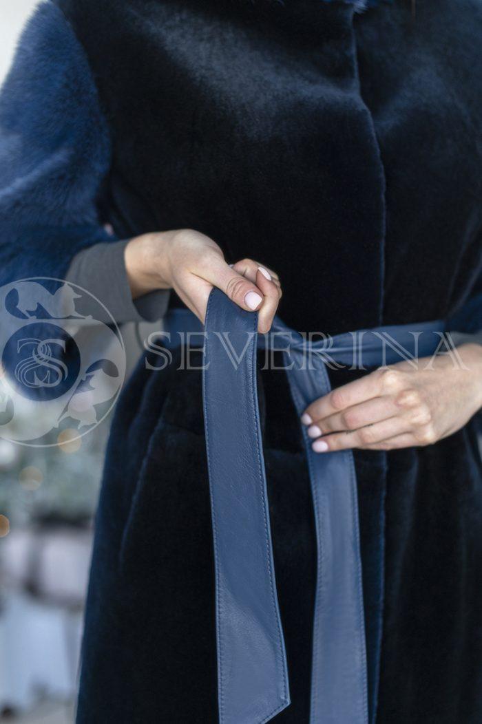 111 700x1052 - шуба из стриженного меха бобра с отделкой из меха норки