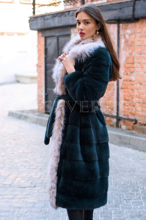 chernaja norka rys bort liza dvorik u guma 1 500x750 - шуба из меха норки с отделкой из меха рыси