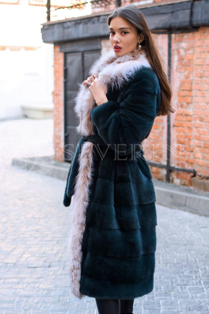 chernaja norka rys bort liza dvorik u guma 1 700x1050 - шуба из меха норки с отделкой из меха рыси