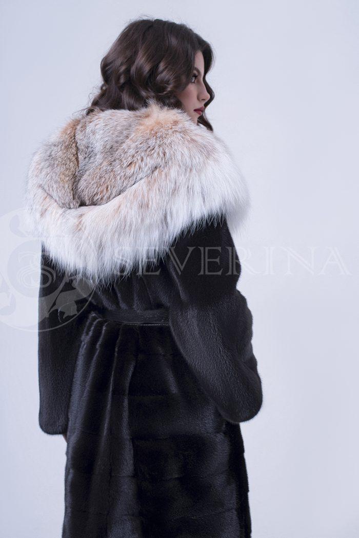 doletskiy 1355 700x1050 - шуба из меха скандинавской норки с мехом рыси