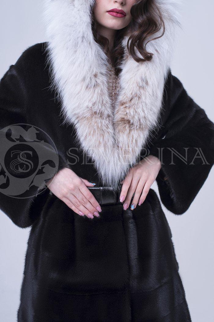 doletskiy 1395 700x1050 - шуба из меха скандинавской норки с мехом рыси