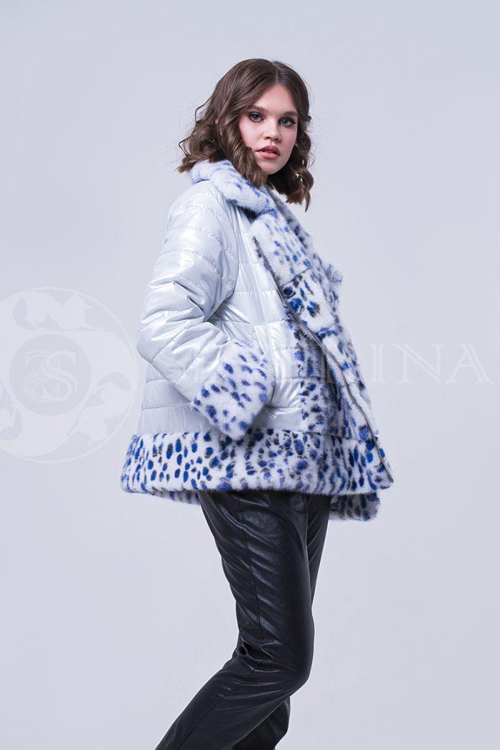 doletskiy 1717 700x1050 - куртка с отделкой из меха норки white с анималистичным принтом