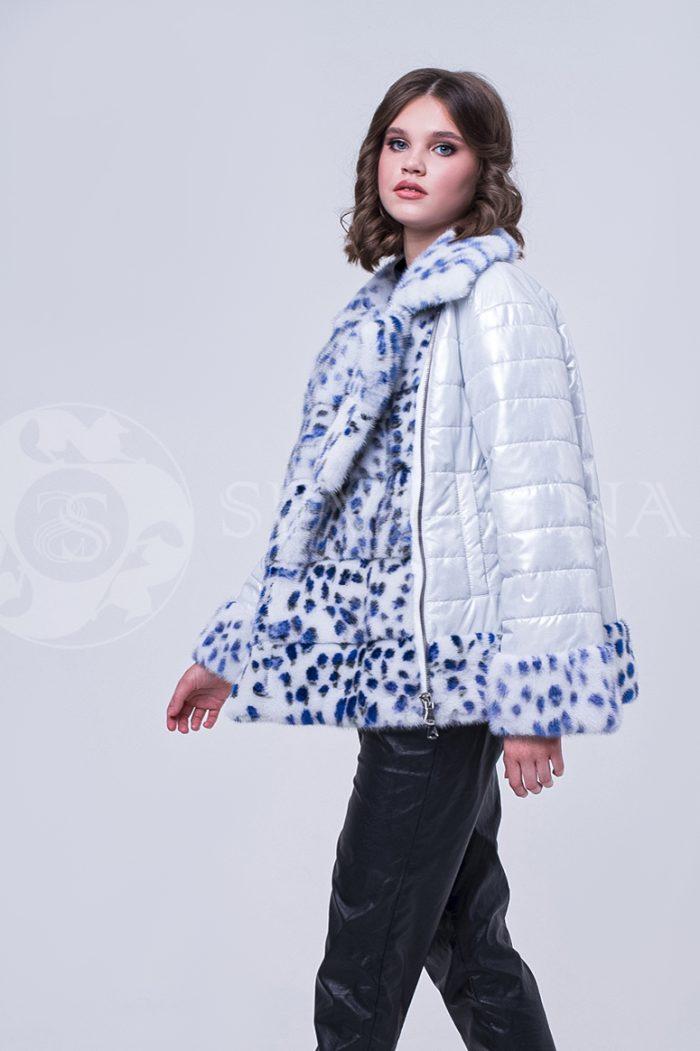 doletskiy 1742 700x1051 - куртка с отделкой из меха норки white с анималистичным принтом