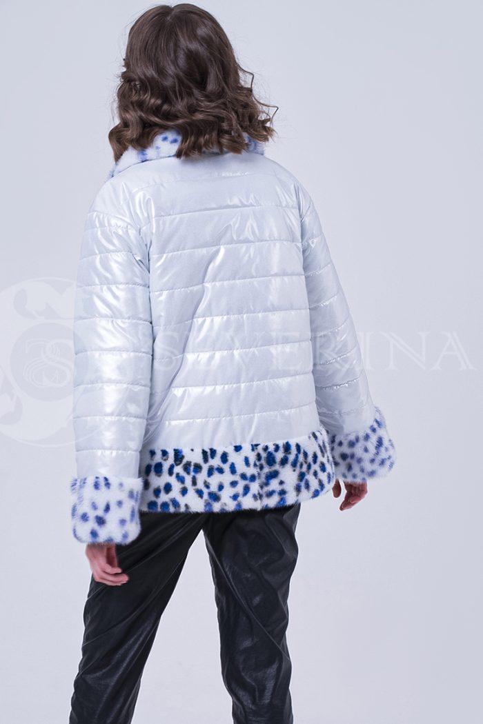 doletskiy 1792 700x1050 - куртка с отделкой из меха норки white с анималистичным принтом