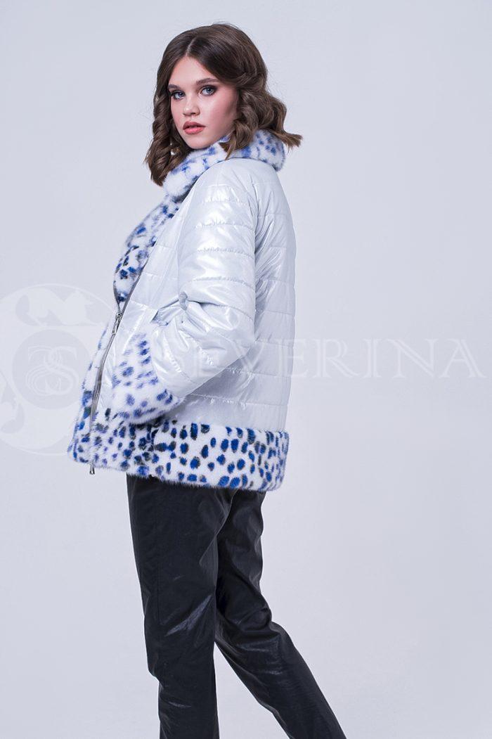doletskiy 1795 700x1051 - куртка с отделкой из меха норки white с анималистичным принтом