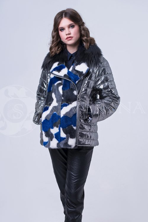 doletskiy 1944 500x751 - куртка с отделкой цветным мехом норки