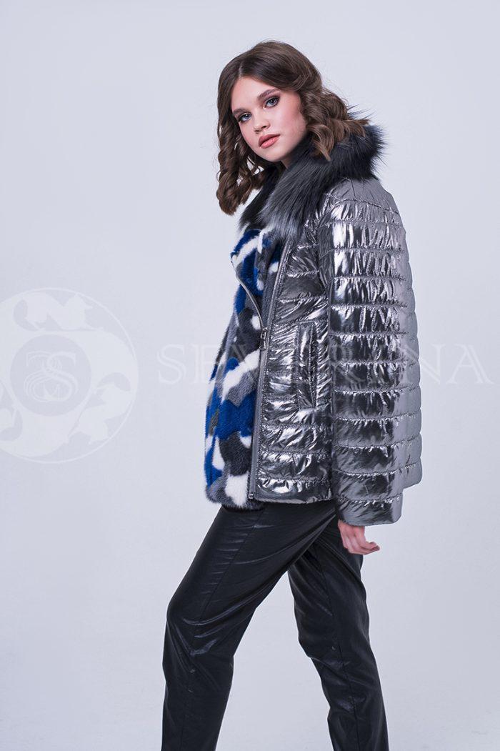 doletskiy 1967 700x1051 - куртка с отделкой цветным мехом норки