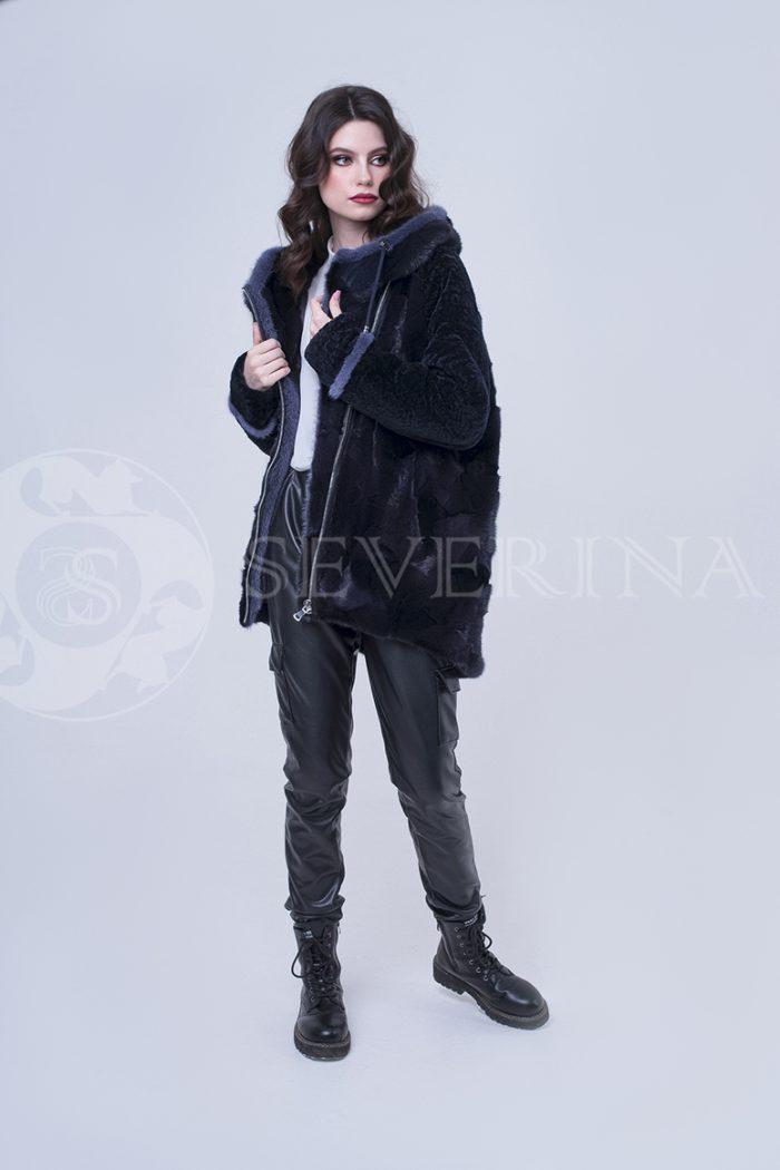doletskiy 2351 1 700x1050 - шуба-куртка из меха норки и овчины
