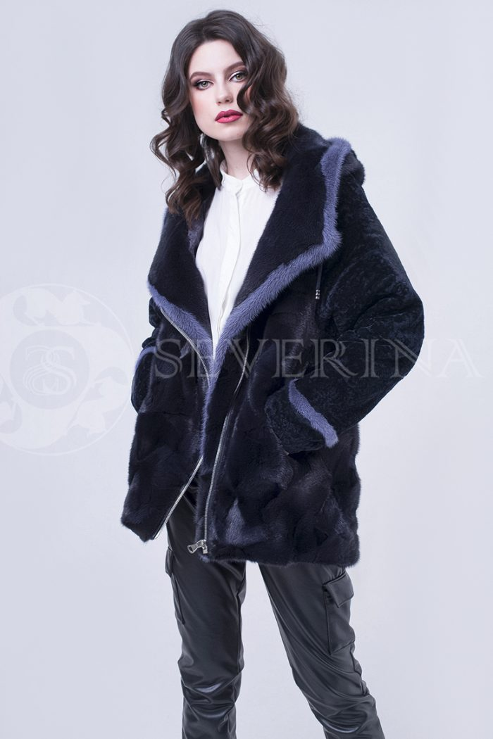 doletskiy 2378 1 700x1050 - шуба-куртка из меха норки и овчины