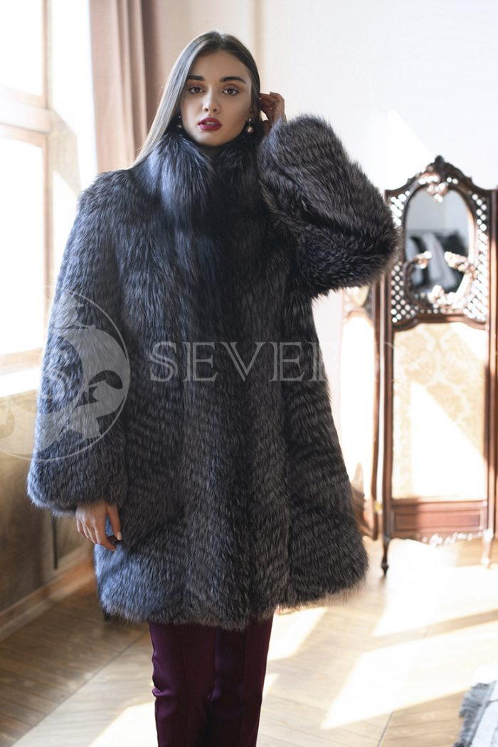 gen5732 700x1050 - шуба из меха серебристо-черной лисы