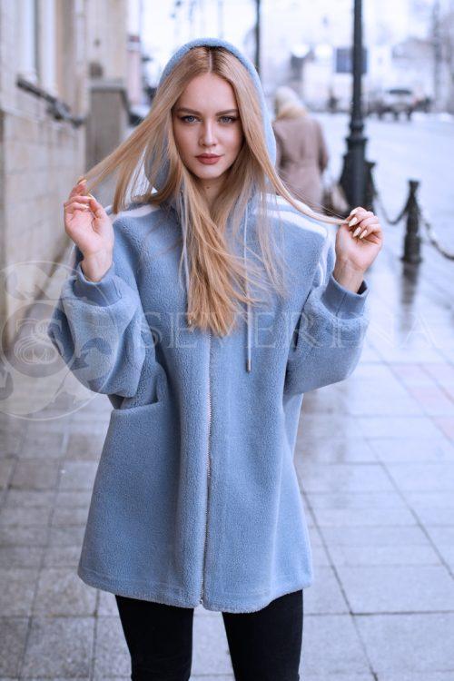 шуба-куртка из меха овчины
