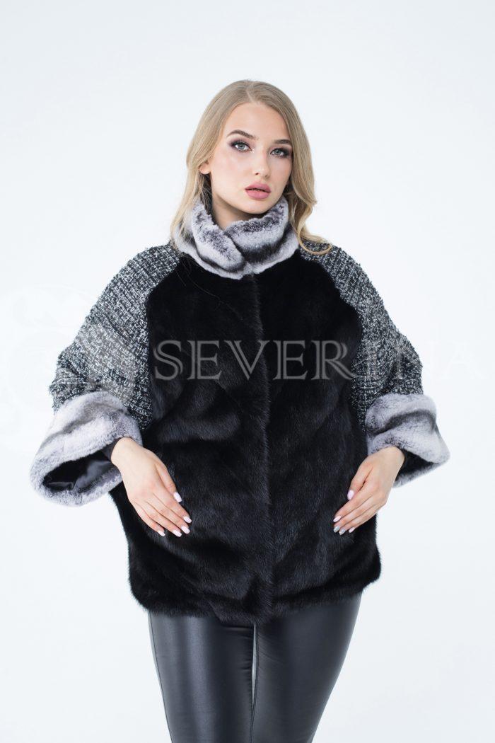 lev300261 1 1 700x1050 - куртка из меха норки с отделкой мехом орилага и рукавами из твида Chanel