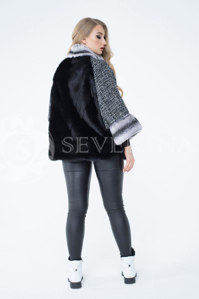 lev300268 700x1050 - куртка из меха норки с отделкой мехом орилага и рукавами из твида Chanel