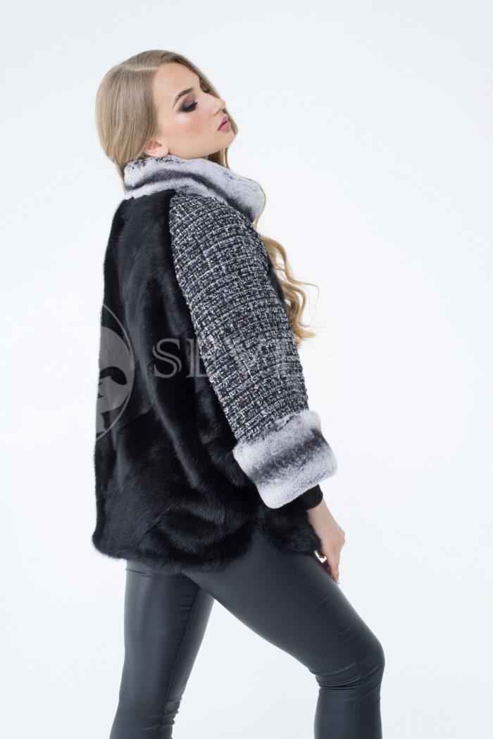 lev300275 1 700x1050 - куртка из меха норки с отделкой мехом орилага и рукавами из твида Chanel