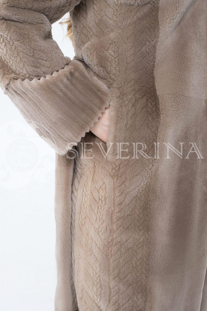 lev300624 2 700x1050 - шуба из комбинированного меха норки pastel