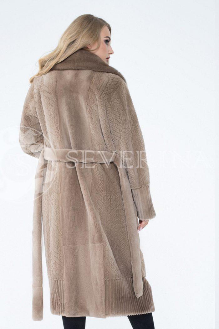 lev300628 2 700x1050 - шуба из комбинированного меха норки pastel