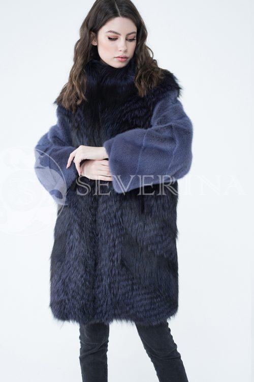 lev300641 1 500x750 - шуба из меха серебристо-черной лисы с отделкой мехом норки