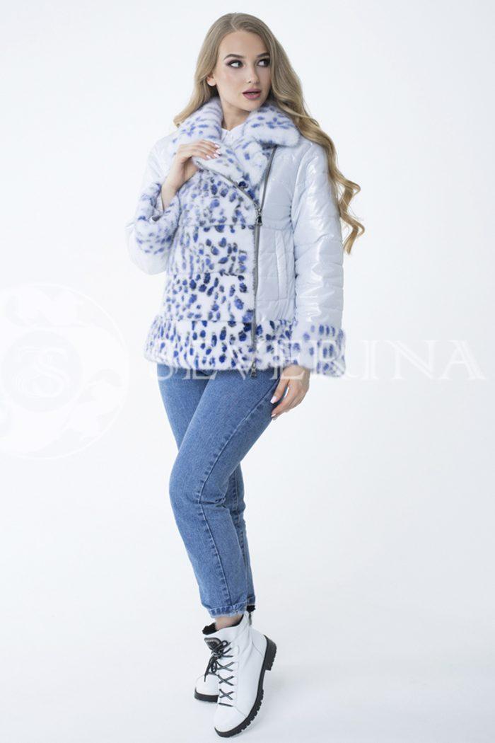 lev300846 700x1050 - куртка с отделкой из меха норки white с анималистичным принтом