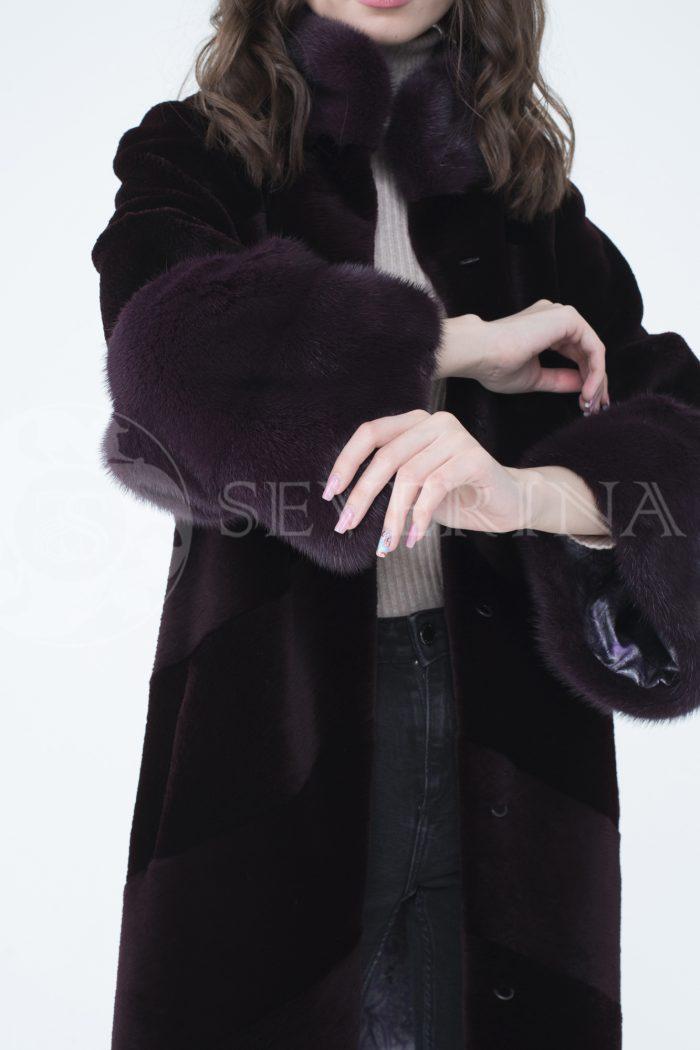 lev300888 2 1 700x1050 - шуба из стриженного меха бобра с отделкой мехом норки