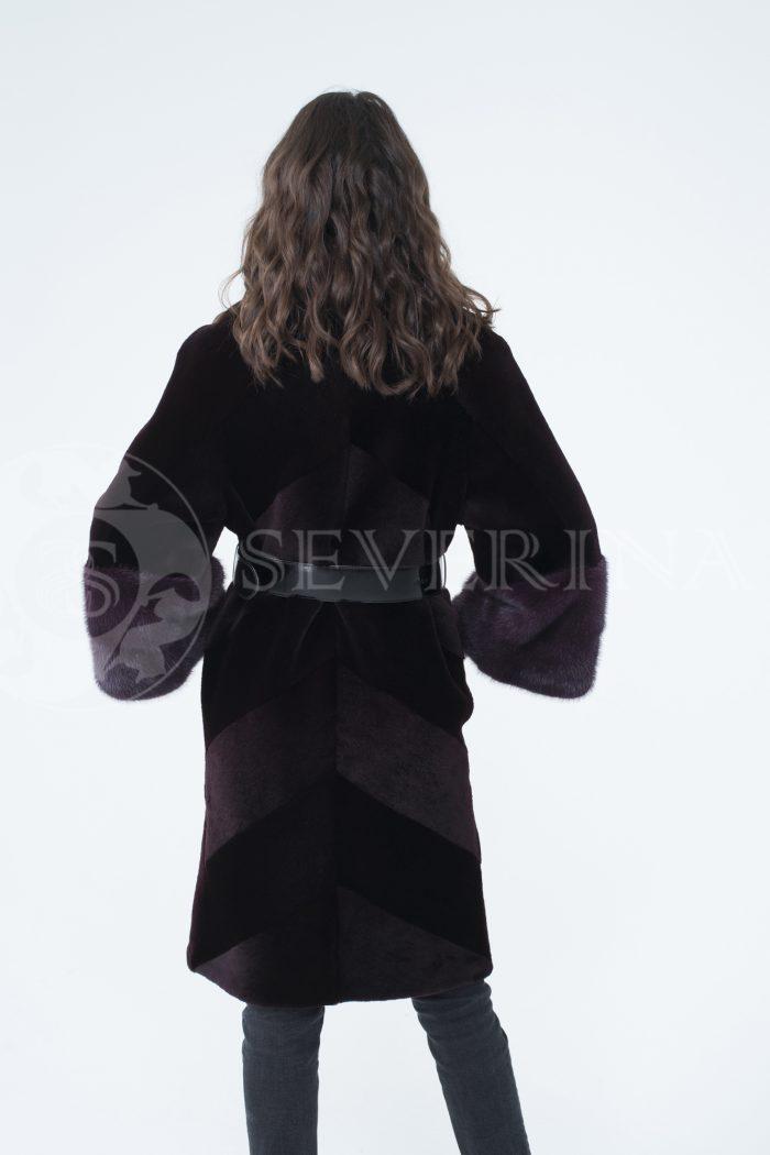lev300918 2 1 700x1050 - шуба из стриженного меха бобра с отделкой мехом норки