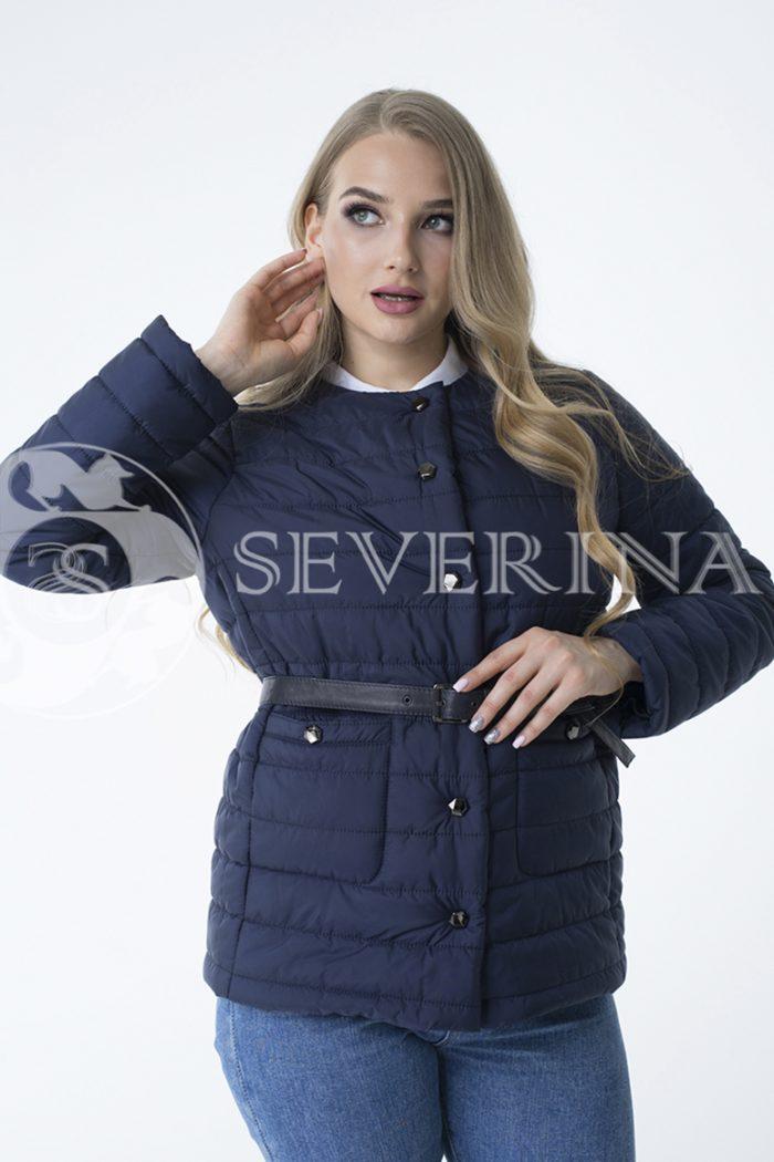 куртка со съёмным капюшоном из меха норки