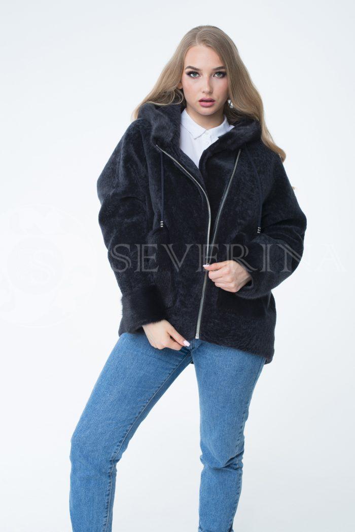 """lev301668 1 700x1050 - куртка """"косуха"""" из меха овчины с отделкой мехом норки"""