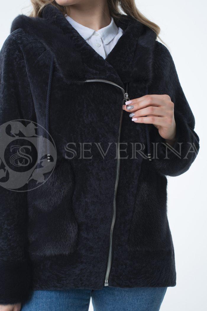"""lev301695 1 700x1050 - куртка """"косуха"""" из меха овчины с отделкой мехом норки"""