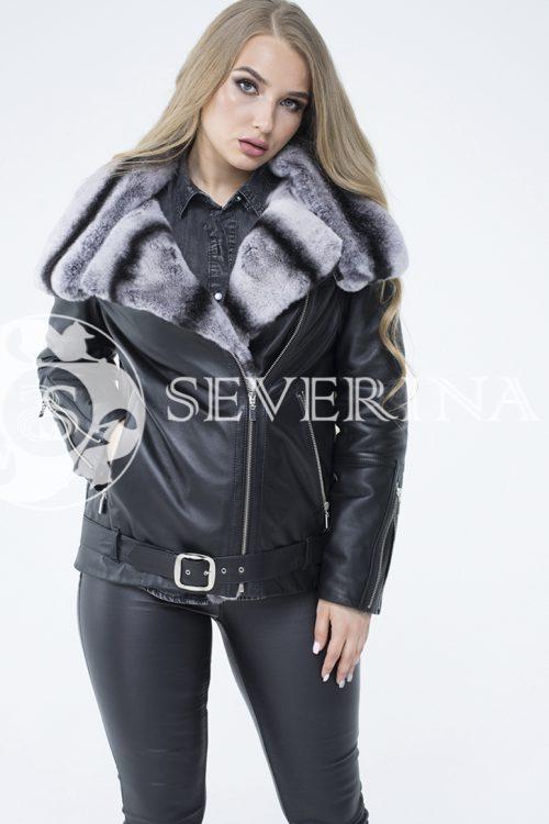 """lev302030 500x750 - куртка из натуральной кожи """"косуха"""" с отделкой из меха орилага"""