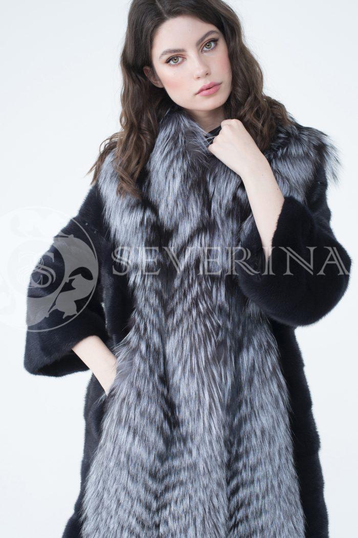 lev302336 2 700x1050 - шуба из меха скандинавской норки с отделкой из меха серебристо-черной лисы