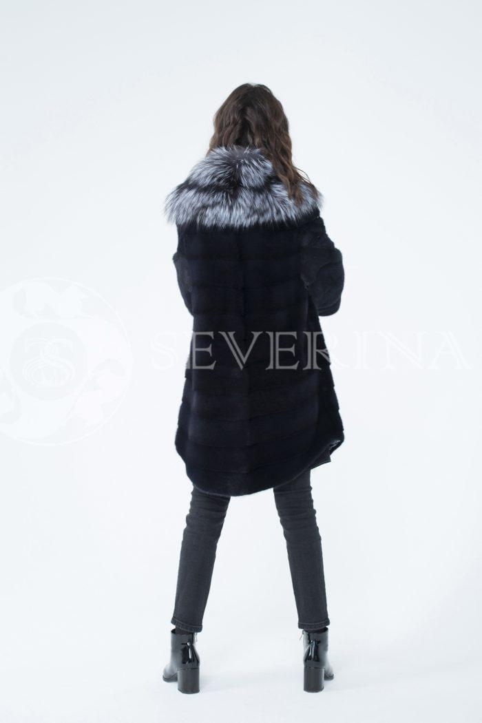 lev302342 1 700x1050 - шуба из меха скандинавской норки с отделкой из меха серебристо-черной лисы