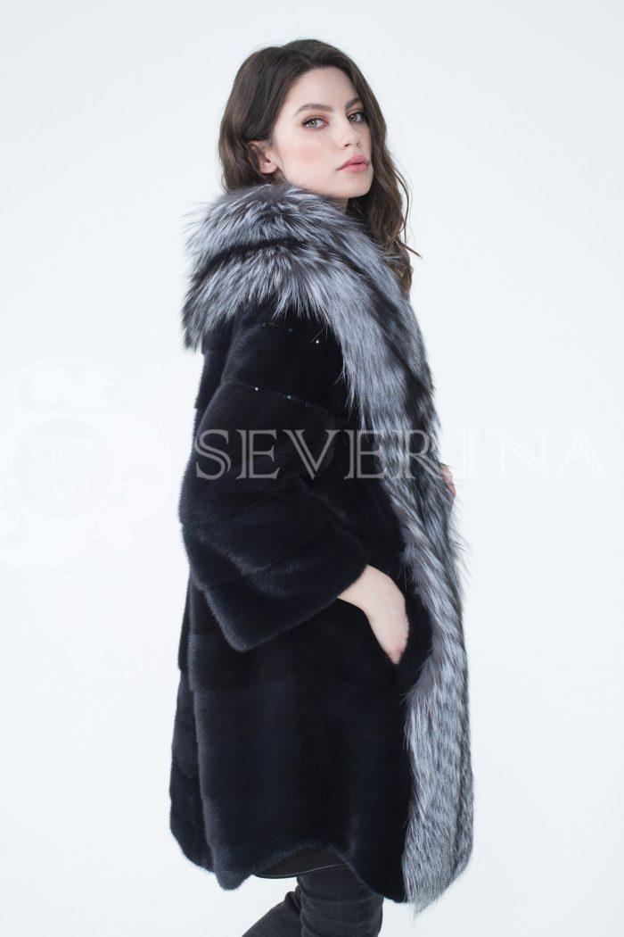 lev302350 700x1050 - шуба из меха скандинавской норки с отделкой из меха серебристо-черной лисы