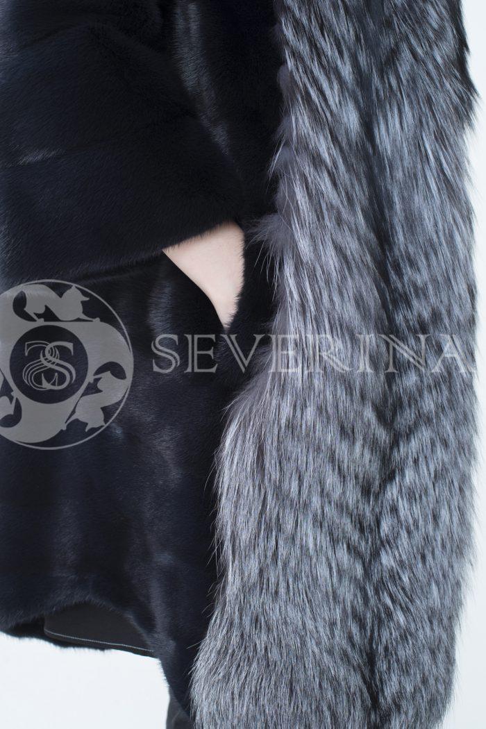 lev302352 2 700x1050 - шуба из меха скандинавской норки с отделкой из меха серебристо-черной лисы