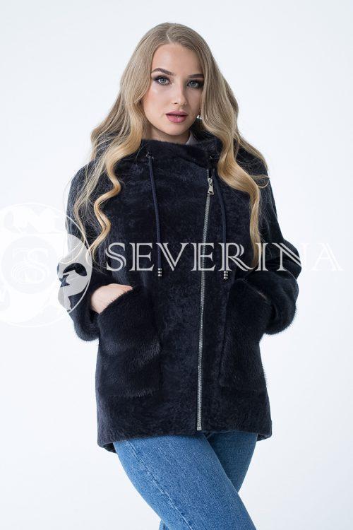 "ovchina t.sinjaja kosuha 1 500x750 - куртка ""косуха"" из меха овчины с отделкой мехом норки"