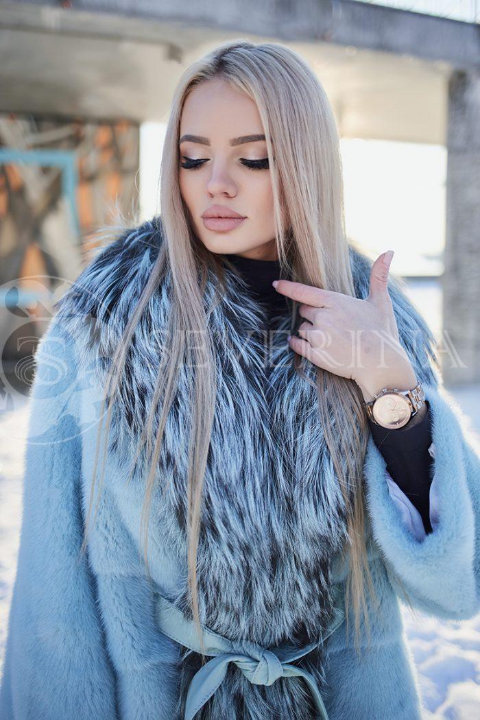 polzovatelskoe imja 5619 700x1050 - шуба из меха норки бирюзового цвета с отделкой из меха серебристо-черной лисы
