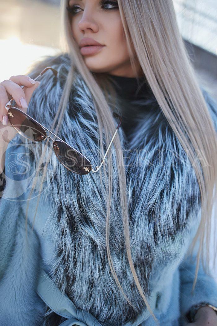 polzovatelskoe imja 5625 700x1050 - шуба из меха норки бирюзового цвета с отделкой из меха серебристо-черной лисы