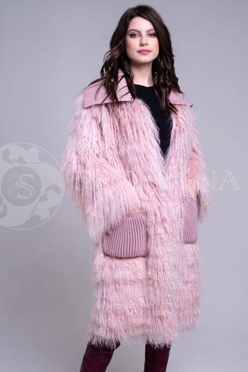 rozovaja lama 3 500x750 - шуба из меха норки нежно-розового цвета