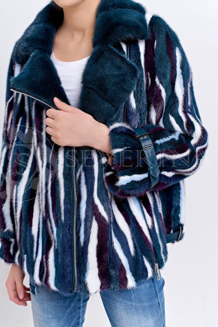 sinjaja zebra 1 700x1050 - шуба из цветного меха норки в стиле «пэчворк»