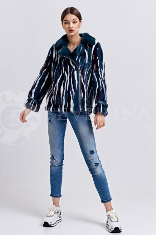 sinjaja zebra 3 500x750 - шуба из меха норки темно-лазурного цвета