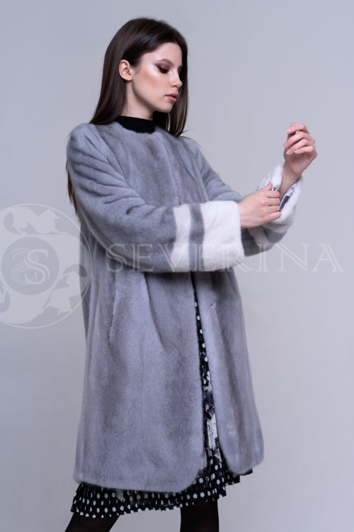 шуба из меха норки silver