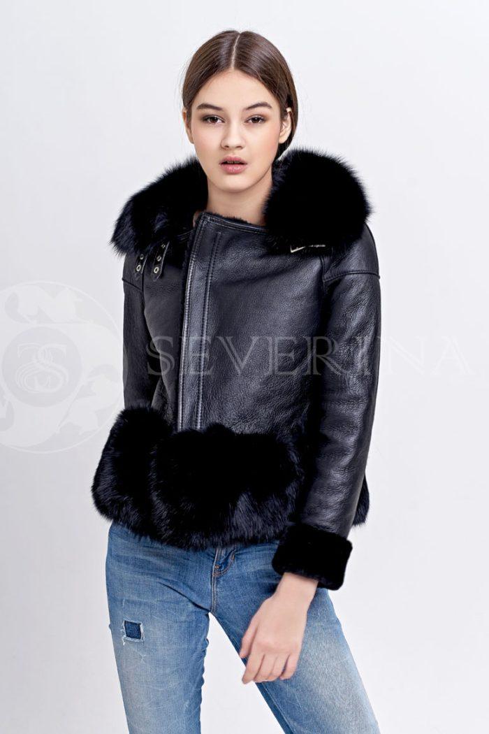 chernaja2 700x1050 - куртка-дубленка с меховой отделкой