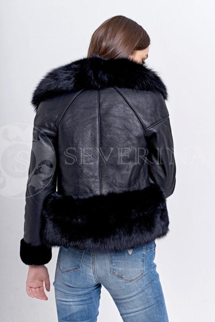 chernaja3 700x1050 - куртка-дубленка с меховой отделкой
