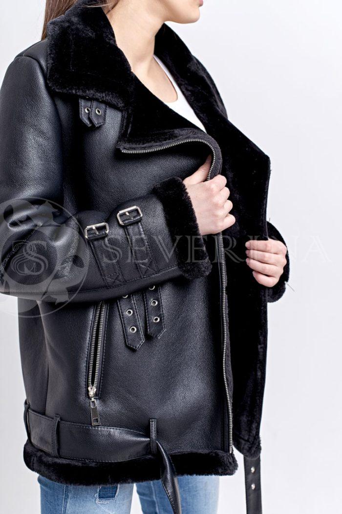 """куртка-дубленка """"авитатор"""" с меховой отделкой"""
