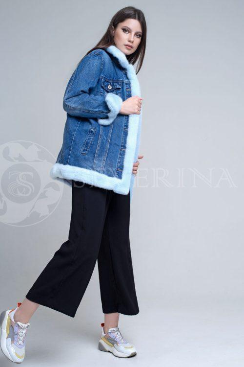 """denim dlinnaja2 500x750 - куртка из натуральной кожи """"косуха"""" с отделкой из меха норки"""