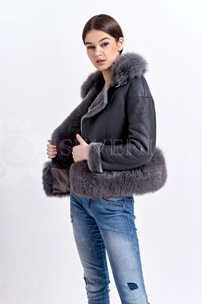 seraja2 700x1050 - куртка-дубленка с меховой отделкой
