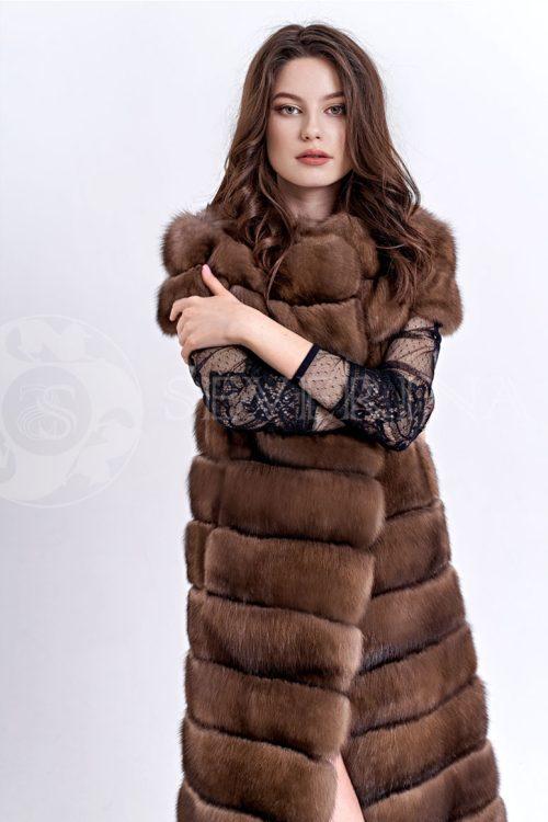 sobol1 500x750 - жилет из меха серебристо-черной лисы