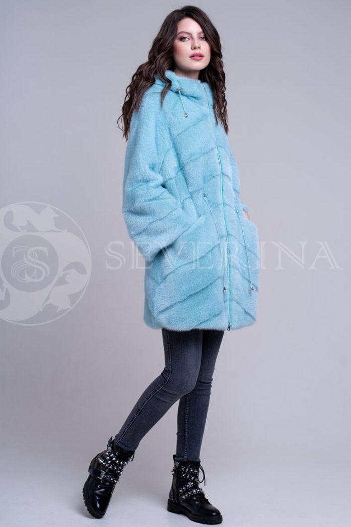 golubaja4 700x1050 - шуба из меха норки бирюзового цвета